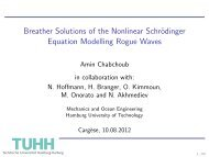 Breather Solutions of the Nonlinear Schrödinger Equation ... - PMMH