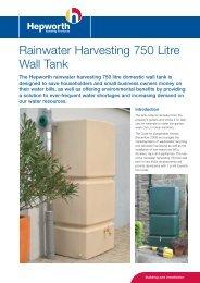 Rainwater Harvesting 750 Litre Wall Tank - ASC Info