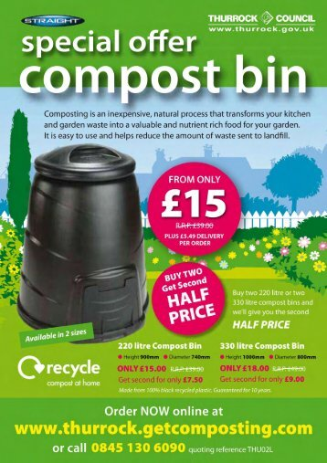 Thurrock Council - Compost Bin / Rainsaver / Water Butt Special Offer
