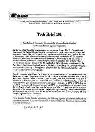 Calculation of Viscometer Constants for Cannon-Fenske Routine ...