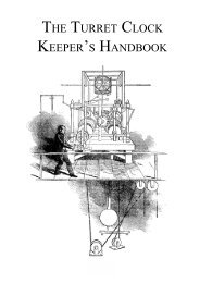 THE TURRET CLOCK KEEPER'S HANDBOOK - Horology - The Index