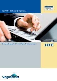 SITE NAV Factsheet - Singhammer