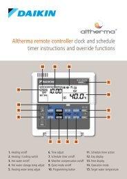 Altherma remote controller clock and schedule ... - Artizan Heating