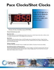 Pace Clock/Shot Clock - Colorado Time Systems