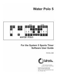 Water Polo 5 - Colorado Time Systems