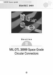 MIL-DTL 38999 Space Grade Circular Connectors - Souriau