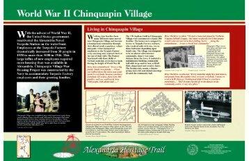 World War II Chinquapin Village - City of Alexandria