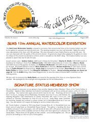 Excellence, As The River Flows - Saint Louis Watercolor Society