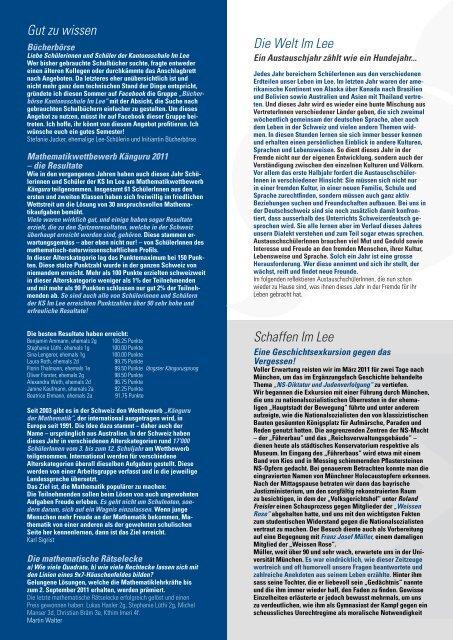 Editorial - Kantonsschule im Lee Winterthur