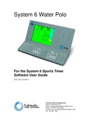 System 6 Water Polo - Colorado Time Systems