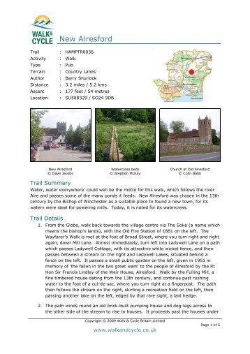 New Alresford - Walk and Cycle Britain