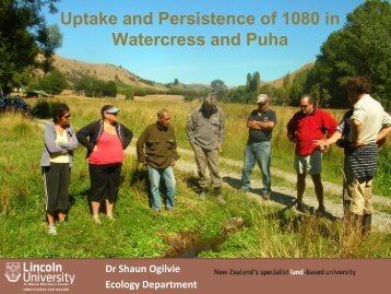 Uptake and persistence of 1080 in watercress and puha - Lincoln ...