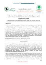 Evaluation of two medicinal plants extract in diets - Scholars ...