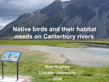 Native birds and their habitat needs on Canterbury rivers - Lincoln U ...