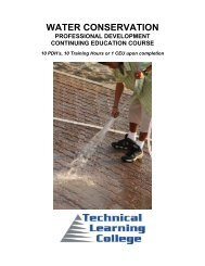 Water Conservation $100 - 10 Hours - Technical Learning College