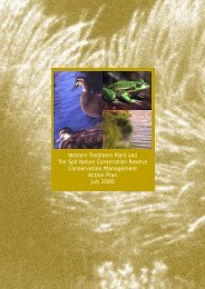 Conservation Management Action Plan - Melbourne Water