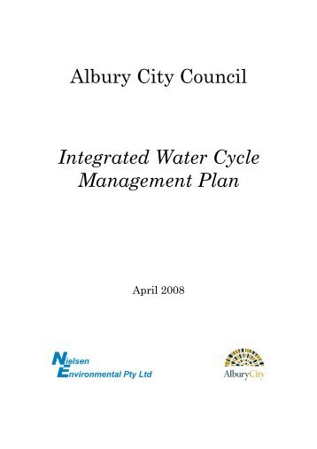 Albury City Council Integrated Water Cycle Management Plan