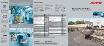 Loctite® Products at Work in Waste Water Treatment Plants - Loctite.ph