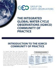 the integrated global water cycle observations (igwco)