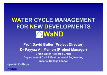 Water Cycle Management for New Developments (WaND) - Uk.net