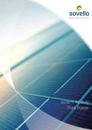 Solární moduly Pure Power - Sovello