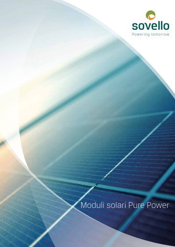 Moduli solari Pure Power - Sovello