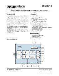 WM8718, Rev 4.5 - Wolfson Microelectronics plc