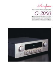 m Revolutionary AAVA volume control m Fully modular ... - Accuphase