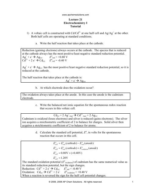 Ap Chem Solutions Worksheet Answers - Promotiontablecovers