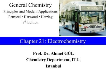 General Chemistry Chapter 21: Electrochemistry
