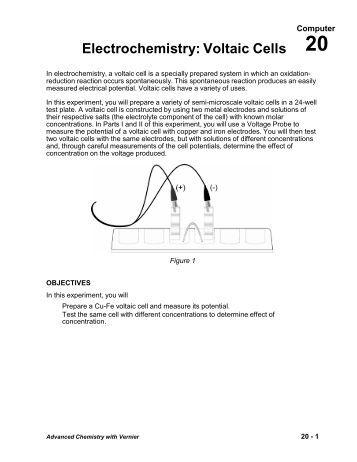 voltaic cells and standard reduction potentials worksheet. Black Bedroom Furniture Sets. Home Design Ideas