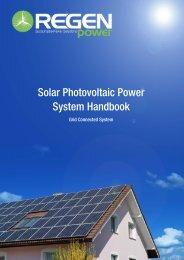 Residential Solar Power System Handbook - Regen Power