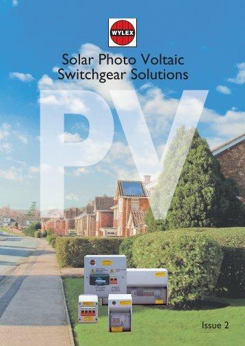 Solar Photo Voltaic Switchgear Solutions - Electrium