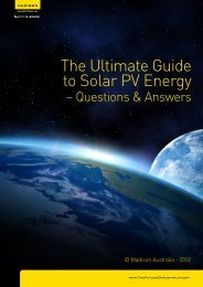 The Ultimate Guide to Solar PV Energy - Madison Australia