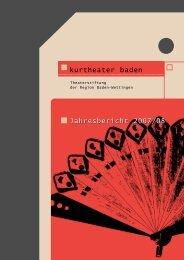 Veranstaltungen der Saison 2007/2008 - Kurtheater Baden