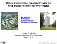 NIST Standard Reference Photometer - MARAMA