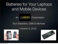Batteries For Your Mobile Devices - OMUG