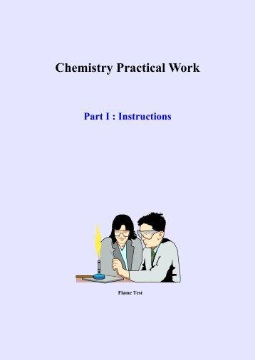 Dr Davids Chemistry Practical Work (Part I - Instructions) BkII