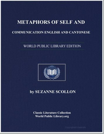 metaphors of self and communication english and cantonese