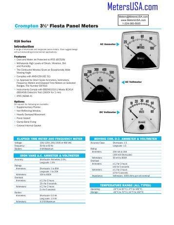 eurodin panel met crompton fiesta panel meters meters usa