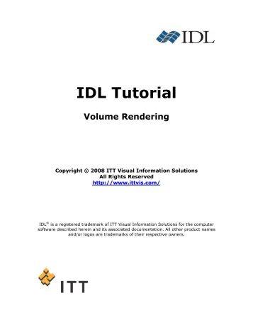 Volume Rendering - Exelis Visual Information Solutions