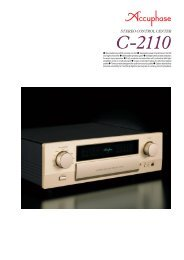 Revolutionary AAVA volume control Separate power ... - Accuphase