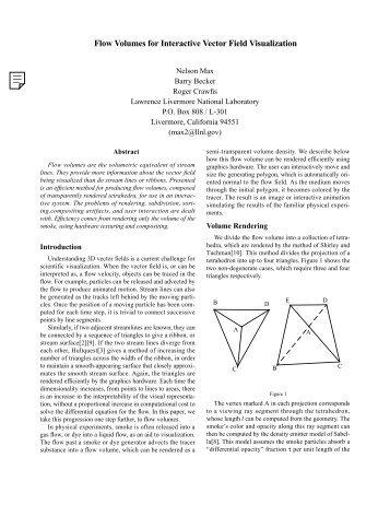 Flow Volumes for Interactive Vector Field Visualization - CiteSeerX