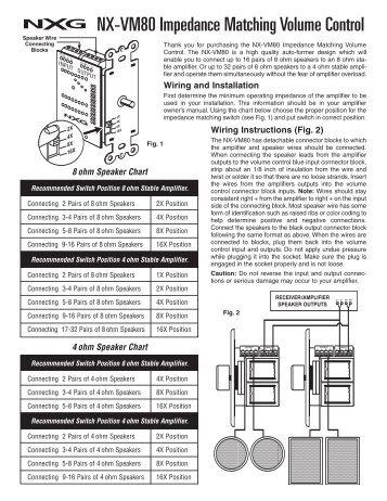 NX-VM80 Impedance Matching Volume Control - NXG Technology