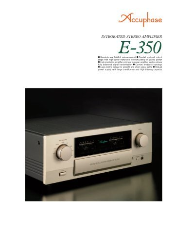 m Revolutionary AAVA-II volume control m Parallel ... - Accuphase