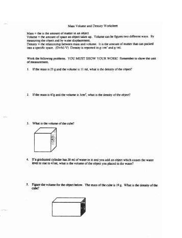 worksheet. Mass Volume Density Worksheet. Grass Fedjp Worksheet ...
