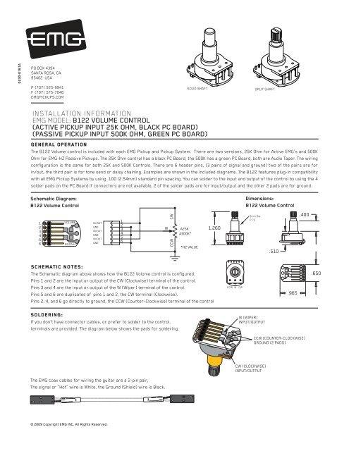 volume control instructions emg pickups emg wiring diagram tone controls