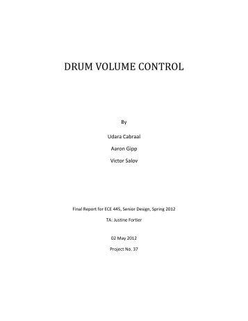 DRUM VOLUME CONTROL