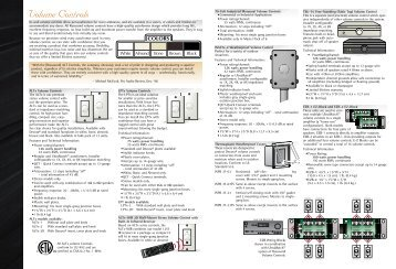 Volume Control section - mastertech