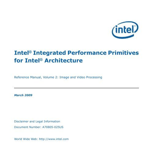 Intel(R) Integrated Performance Primitives for     - nacad
